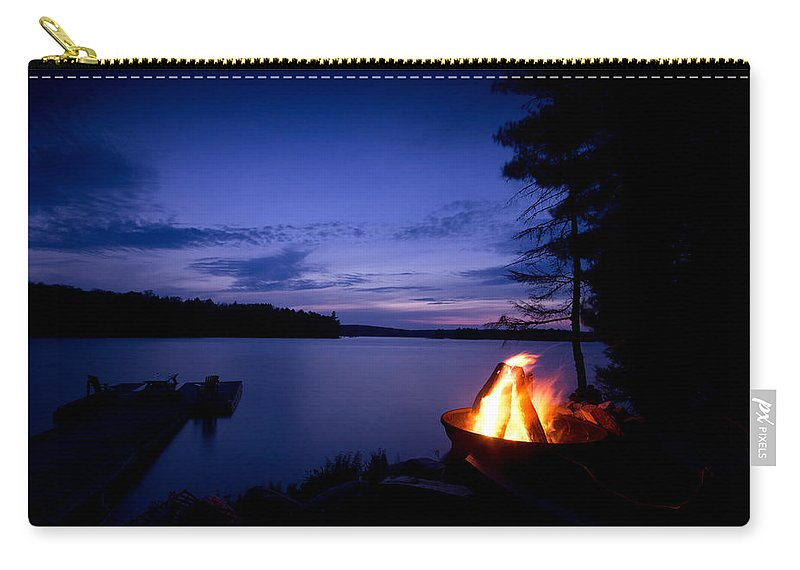 Campfire Carry-all Pouch featuring the photograph Campfire by Cale Best