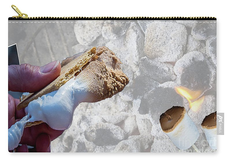 Night Carry-all Pouch featuring the photograph Campfire S'mores by Deborah Klubertanz