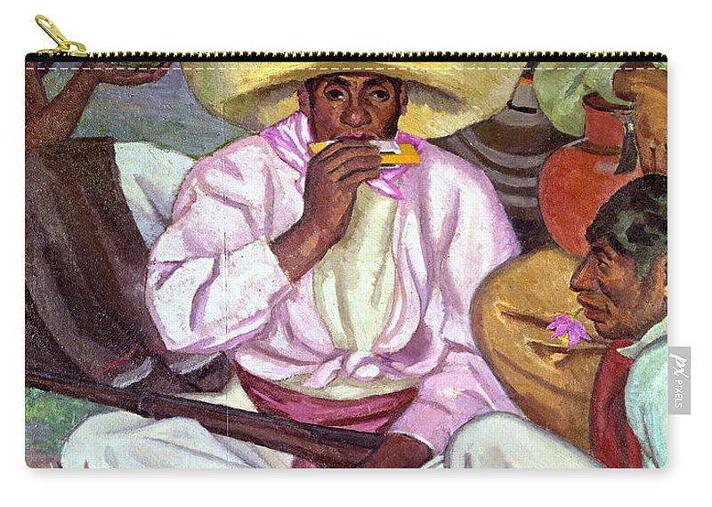 1922 Carry-all Pouch featuring the photograph Camping Zapatistas, 1922 by Granger