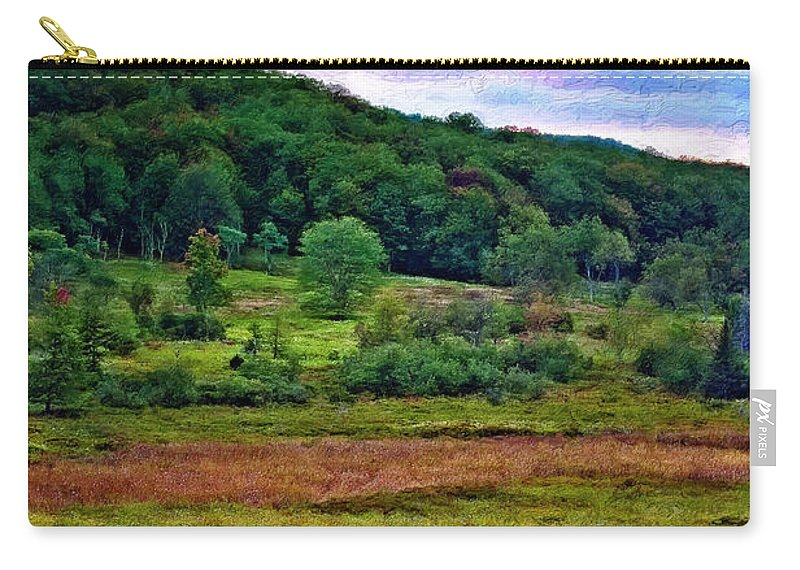 West Virginia Carry-all Pouch featuring the photograph Canaan Valley Evening Impasto by Steve Harrington