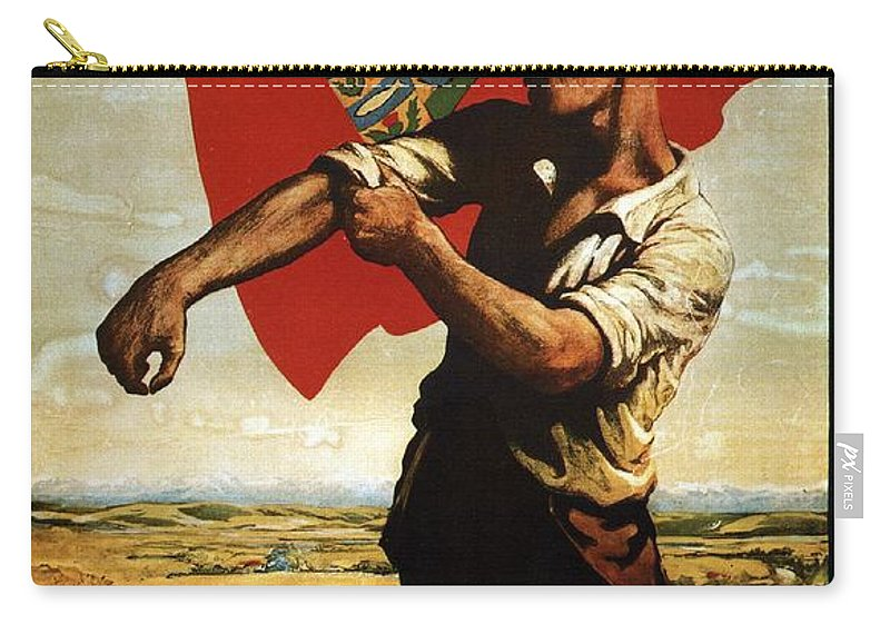 Canadian Pacific Carry-all Pouch featuring the mixed media Canada - Canadian Pacific Railway - Flag - Retro Travel Poster - Vintage Poster by Studio Grafiikka