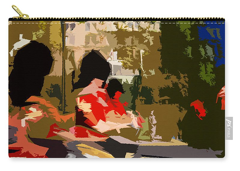 Canada Carry-all Pouch featuring the painting Canadian Drummers by David Lee Thompson