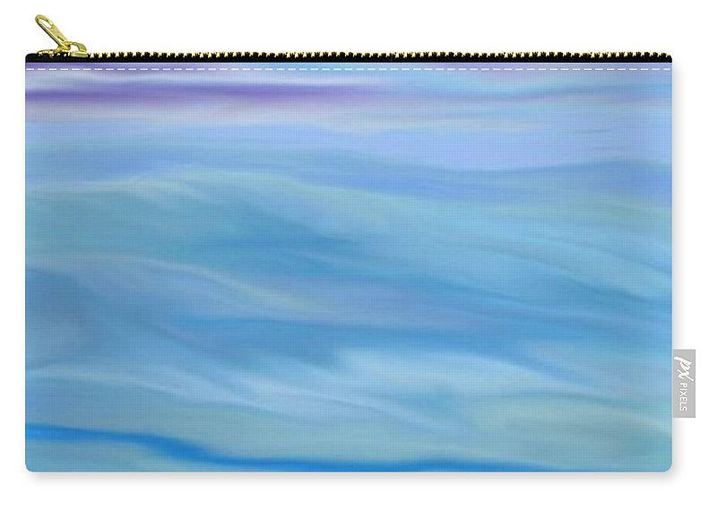 Canadian-art Carry-all Pouch featuring the digital art Canadian North. by Susan Oliver
