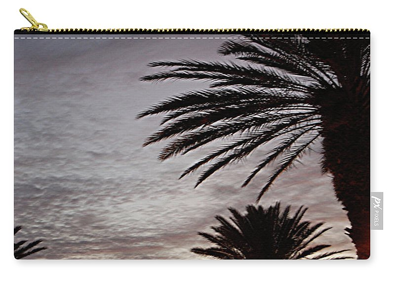 New Smyrna Beach Carry-all Pouch featuring the photograph Canal Street At Dusk by DigiArt Diaries by Vicky B Fuller