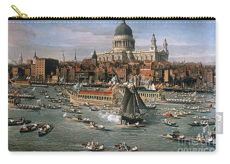 18th Century Carry-all Pouch featuring the photograph Canaletto: Thames, 18th C by Granger