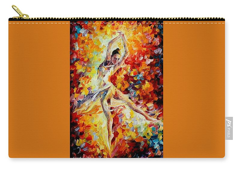 Danse Carry-all Pouch featuring the painting Candle Fire by Leonid Afremov
