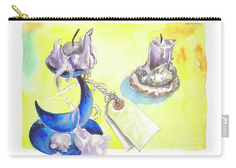 Candlestick Carry-all Pouch featuring the painting Candle by Yana Sadykova