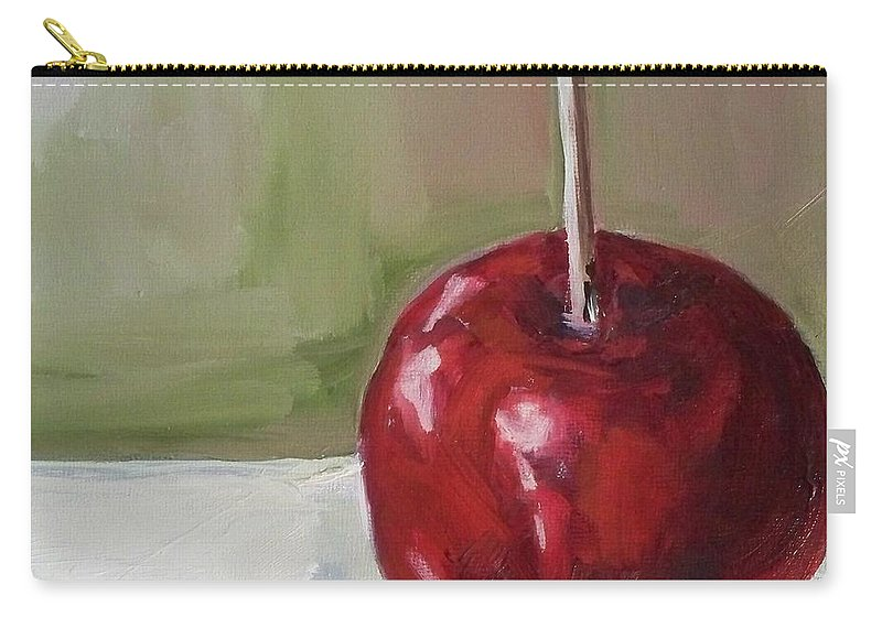 Candy Carry-all Pouch featuring the painting Candy Apple by Kristine Kainer