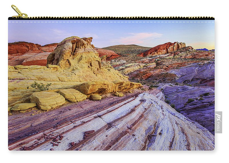 Candy Cane Desert Carry-all Pouch featuring the photograph Candy Cane Desert by Chad Dutson