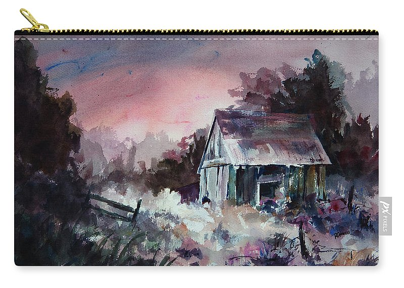 Shack Carry-all Pouch featuring the painting Candy Cane by Rachel Christine Nowicki