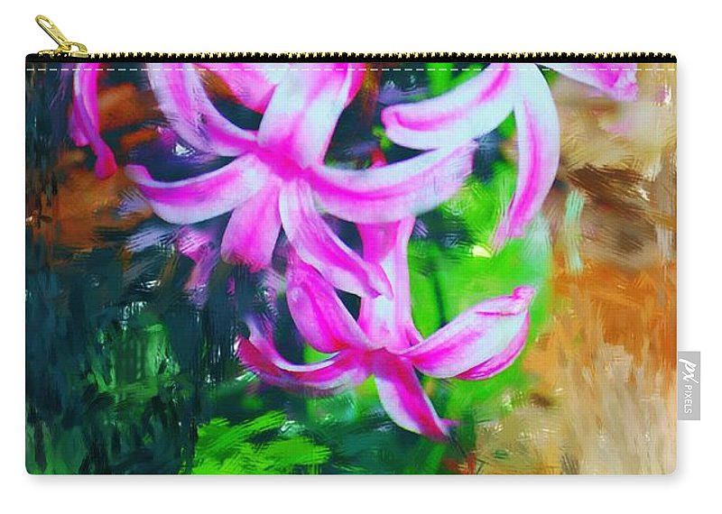 Carry-all Pouch featuring the photograph Candy Striped Hyacinth by David Lane