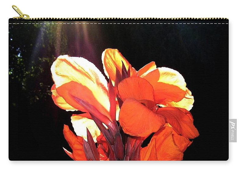 Canna Lily Carry-all Pouch featuring the photograph Canna Lily by Will Borden