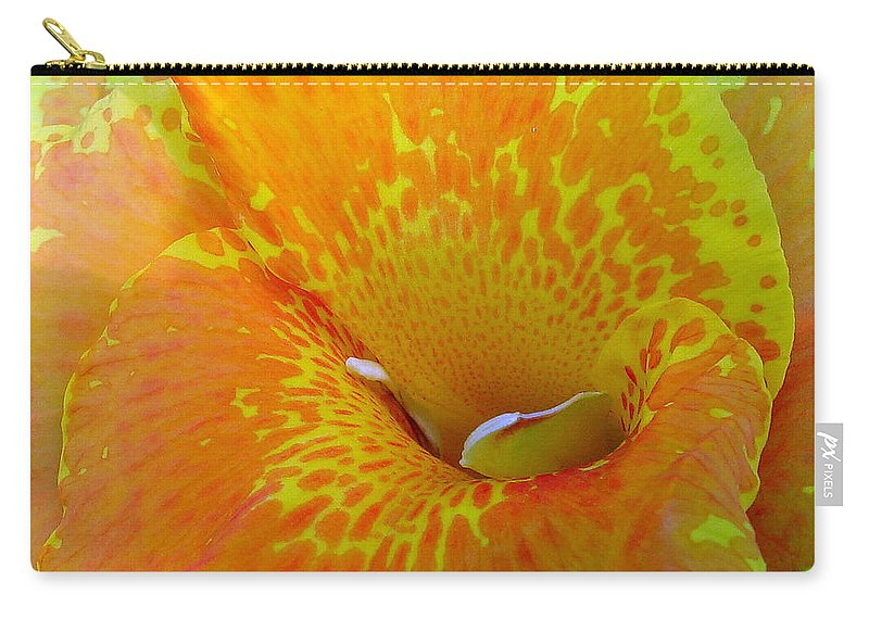 Orange Yellow Flower Carry-all Pouch featuring the photograph Canna by Luciana Seymour