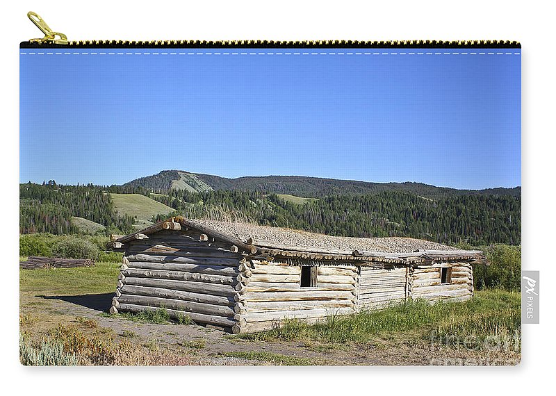 Cabin Carry-all Pouch featuring the photograph Canningham Cabin Grand Tetons National Park by Teresa Zieba