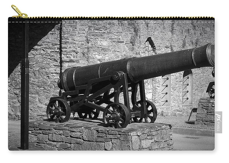 Irish Carry-all Pouch featuring the photograph Cannon at Macroom Castle Ireland by Teresa Mucha