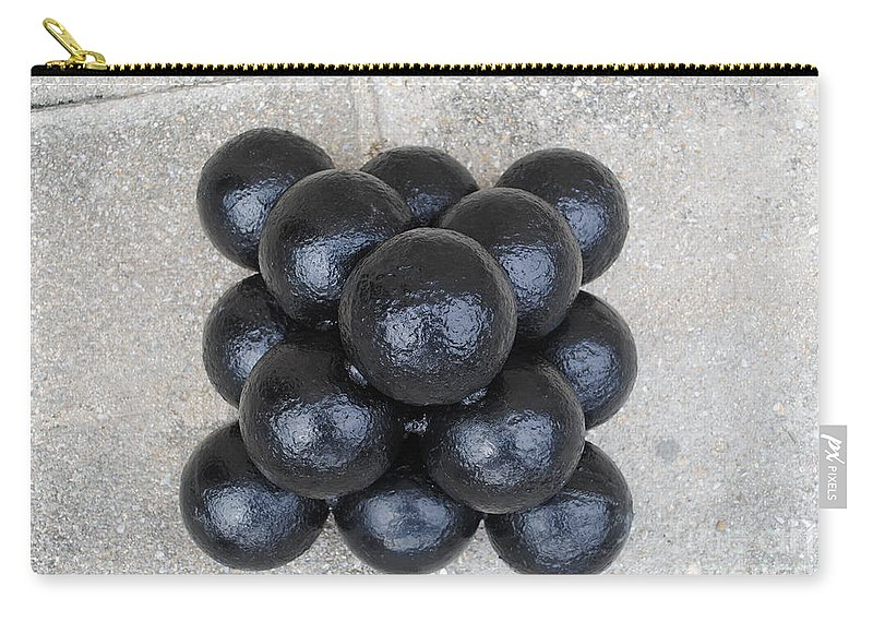 Cannon Carry-all Pouch featuring the photograph Cannon Balls by Jost Houk