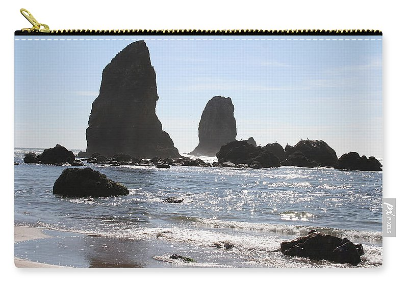 Sea Carry-all Pouch featuring the photograph Cannon Beach II by Quin Sweetman