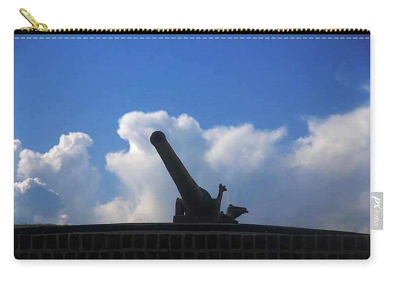 Photography Carry-all Pouch featuring the photograph Cannons At Fort Moultrie Charleston by Susanne Van Hulst
