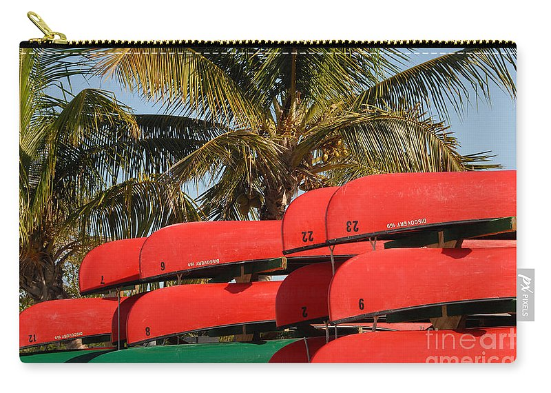 Flamingo Florida Carry-all Pouch featuring the photograph Canoe's At Flamingo by David Lee Thompson