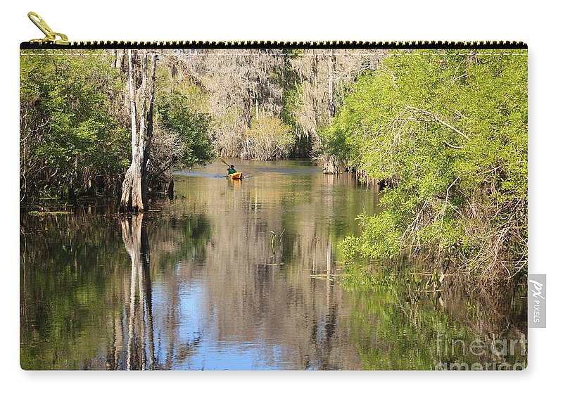 Hillsborough River Carry-all Pouch featuring the photograph Canoing On Hillsborough River by Carol Groenen