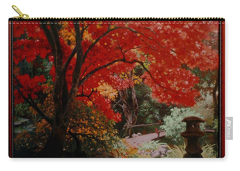 Oriental Carry-all Pouch featuring the painting Canopy Of Red by Stephen Lucas