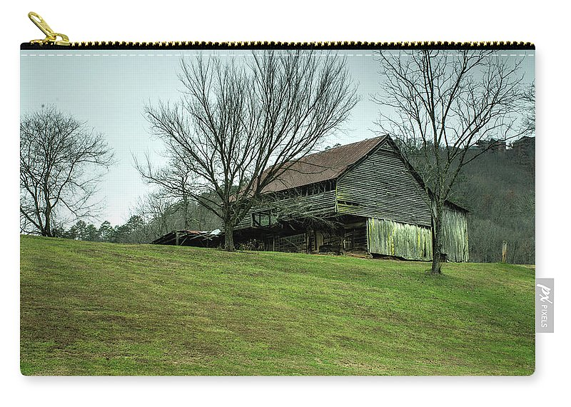 Cantilever Carry-all Pouch featuring the photograph Cantilever Barn Sevier County Tennessee by Douglas Barnett