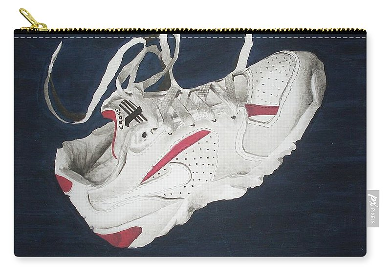 Shoes Carry-all Pouch featuring the painting Canvass by Olaoluwa Smith