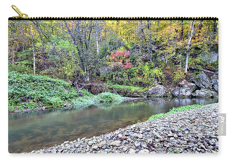River Carry-all Pouch featuring the photograph Canyon Autumn by Bonfire Photography