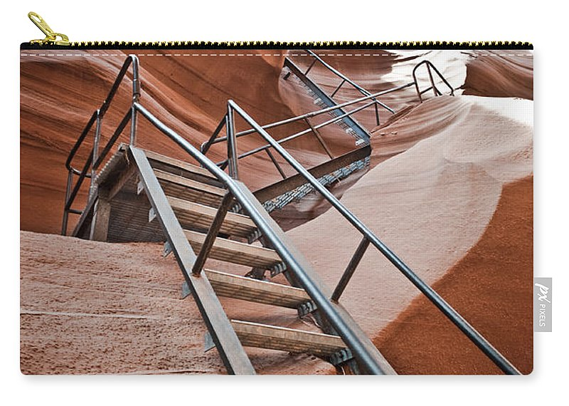 Slot Canyon Carry-all Pouch featuring the photograph Canyon Exit by Scott Sawyer