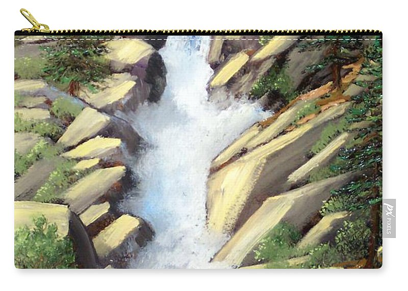 Landscape Carry-all Pouch featuring the painting Canyon Falls by Frank Wilson