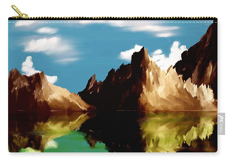 Digital Art Carry-all Pouch featuring the digital art Canyon Lake by David Lane