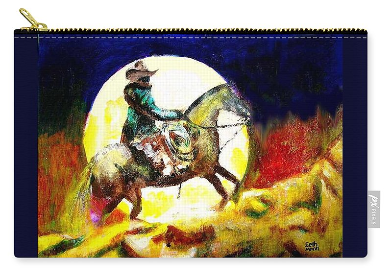 Canyon Moon Carry-all Pouch featuring the painting Canyon Moon by Seth Weaver
