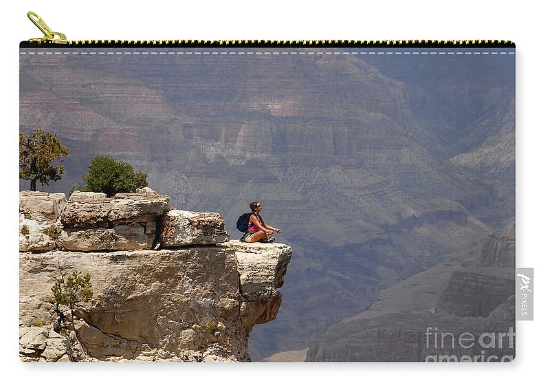 Grand Canyon National Park Arizona Carry-all Pouch featuring the photograph Canyon Thoughts by David Lee Thompson