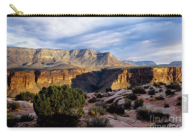 Toroweap Carry-all Pouch featuring the photograph Canyon Walls At Toroweap by Kathy McClure