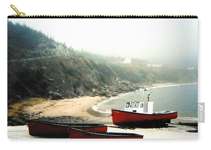 Fishing Boats Carry-all Pouch featuring the photograph Cape Breton Fishing Boats by Will Borden