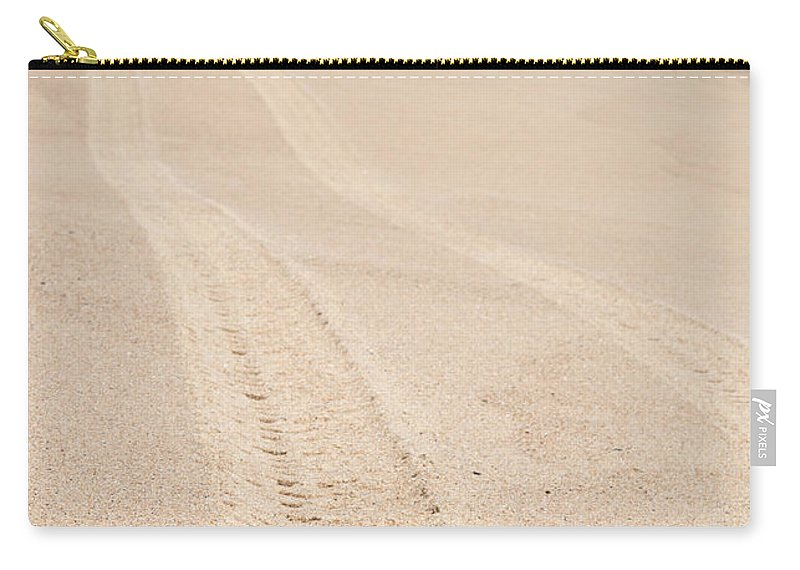 Cape Cod Carry-all Pouch featuring the photograph Cape Cod Beach With Tire Tracks by Michelle Himes