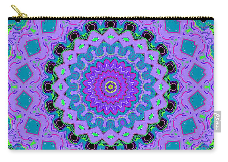 Digital Carry-all Pouch featuring the digital art Cape Cod Cottage Rug by Joy McKenzie