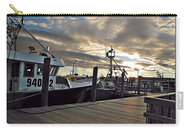 Cape Carry-all Pouch featuring the photograph Cape Cod Harbor by Joan Minchak
