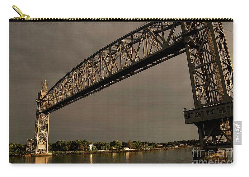 Cape Cod Carry-all Pouch featuring the photograph Cape Cod Train Bridge by Michelle Himes