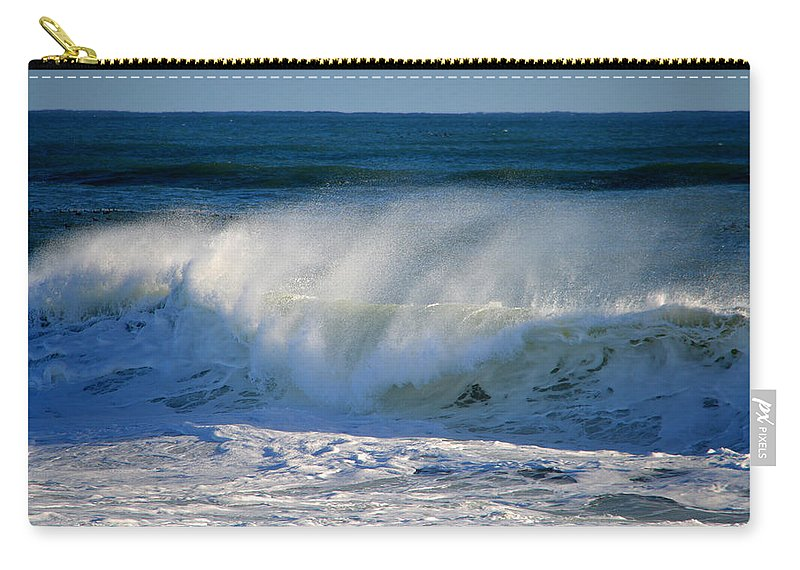 Ocean Carry-all Pouch featuring the photograph Cape Cod Winter Breakers by Dianne Cowen