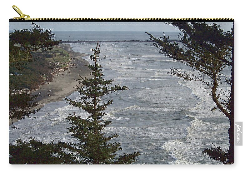Cape Disappointment Carry-all Pouch featuring the photograph Cape Disappointment Beach by Charles Robinson