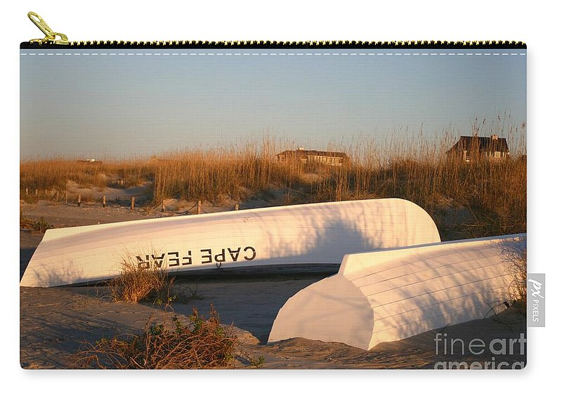 Boats Carry-all Pouch featuring the photograph Cape Fear Boats by Nadine Rippelmeyer
