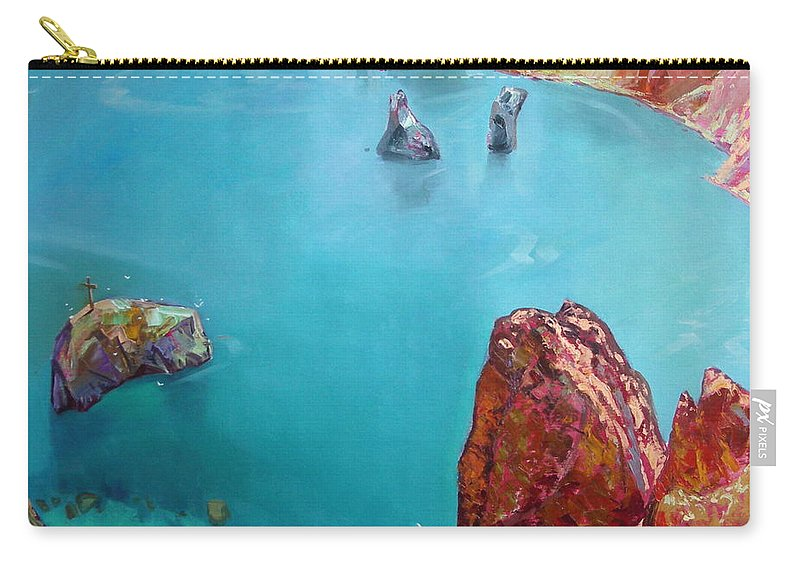 Ignatenko Carry-all Pouch featuring the painting Cape Fiolent by Sergey Ignatenko