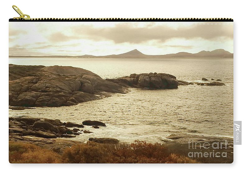 Digital Monochromatic Photo Carry-all Pouch featuring the photograph Esperance Bay S by Tim Richards
