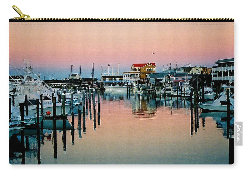 Cape May Carry-all Pouch featuring the photograph Cape May After Glow by Steve Karol