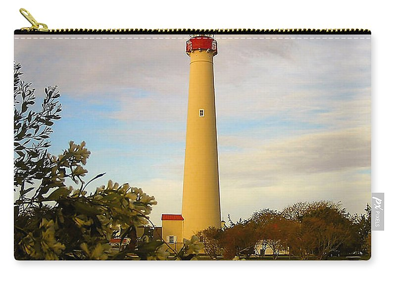 Atlantic Carry-all Pouch featuring the photograph Cape May Lighthouse In Spring by Nick Zelinsky