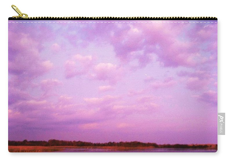 Cape May Point Nj Carry-all Pouch featuring the painting Cape May Point State Park Lanscape And Clouds by Eric Schiabor