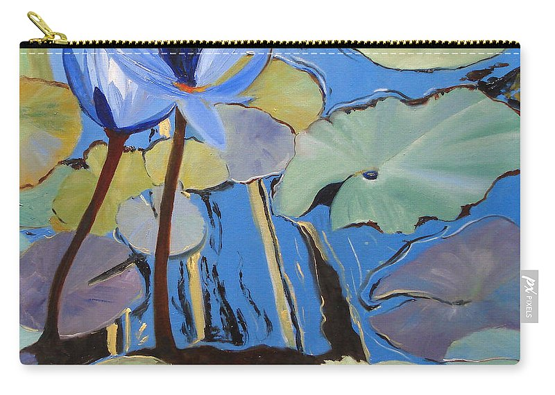 Lillies Carry-all Pouch featuring the painting Capistrano Lillies by Barbara Andolsek