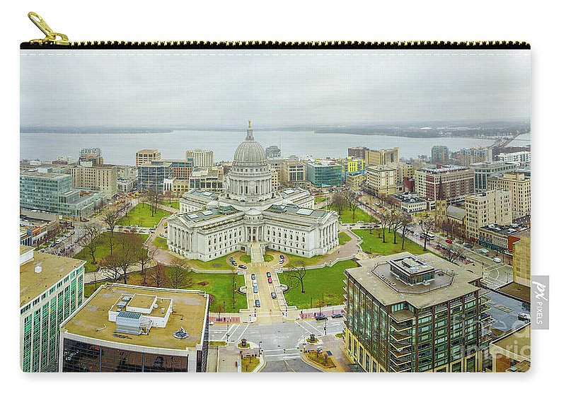 Madison Carry-all Pouch featuring the photograph Capital Panoramic by Randy Kostichka