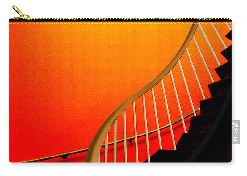 Capital Carry-all Pouch featuring the photograph Capital Stairs by Paul Wear